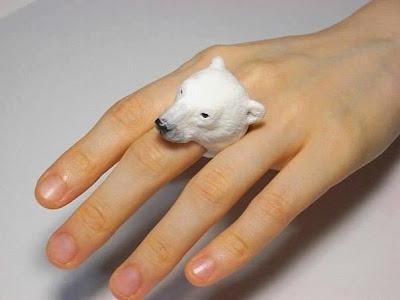 Diseño de joyería creativa de animales-anillos