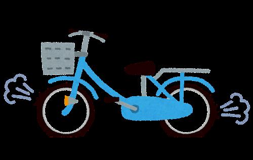 自転車のパンクのイラスト
