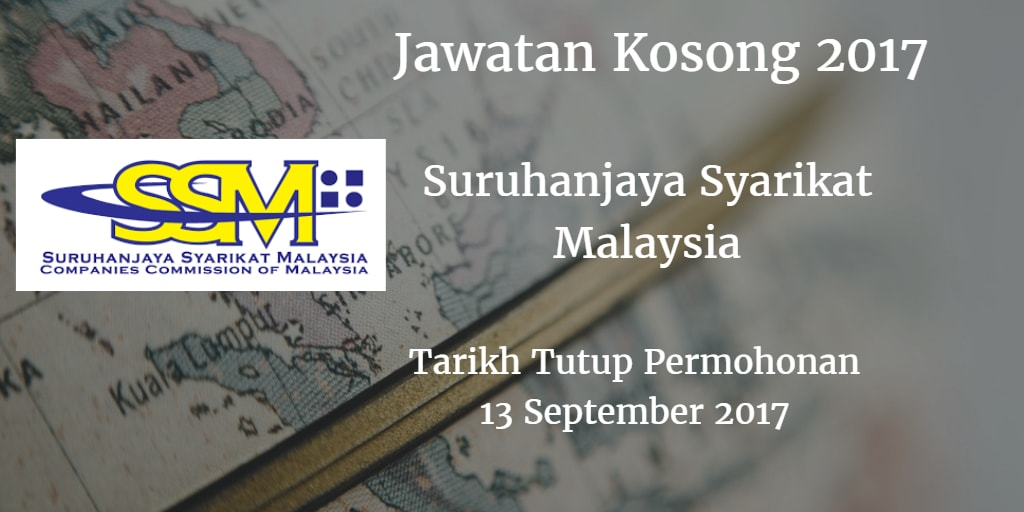 Jawatan Kosong SSM 13 September 2017
