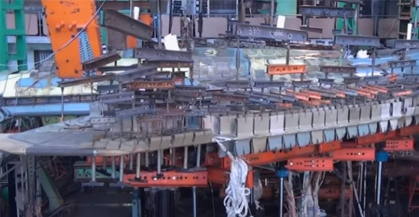 Video yang diterbitkan tentang penghancuran sayap Su-57 selama tes