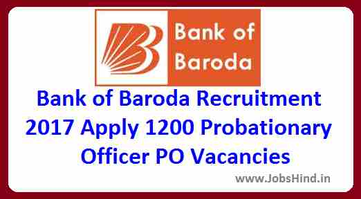 Bank Of Baroda Recruitment 2017