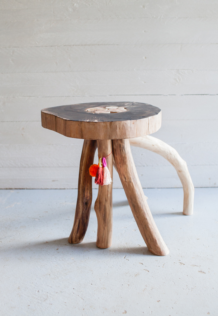 australian hardwood side table