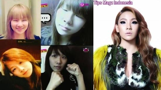 artis korea CL - 2NE1 saat tanpa makeup