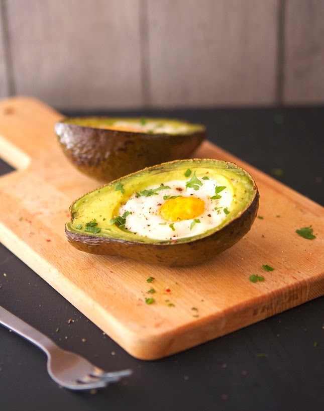 Eggs Baked In Avocado Boats