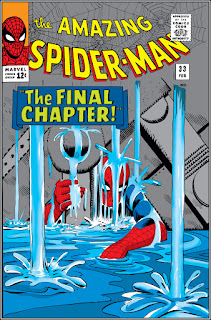 Spider-Man trapped under a river by heavy machinery