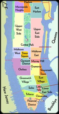 Carte Quartier New York City.Special Nyc Precursoeurs