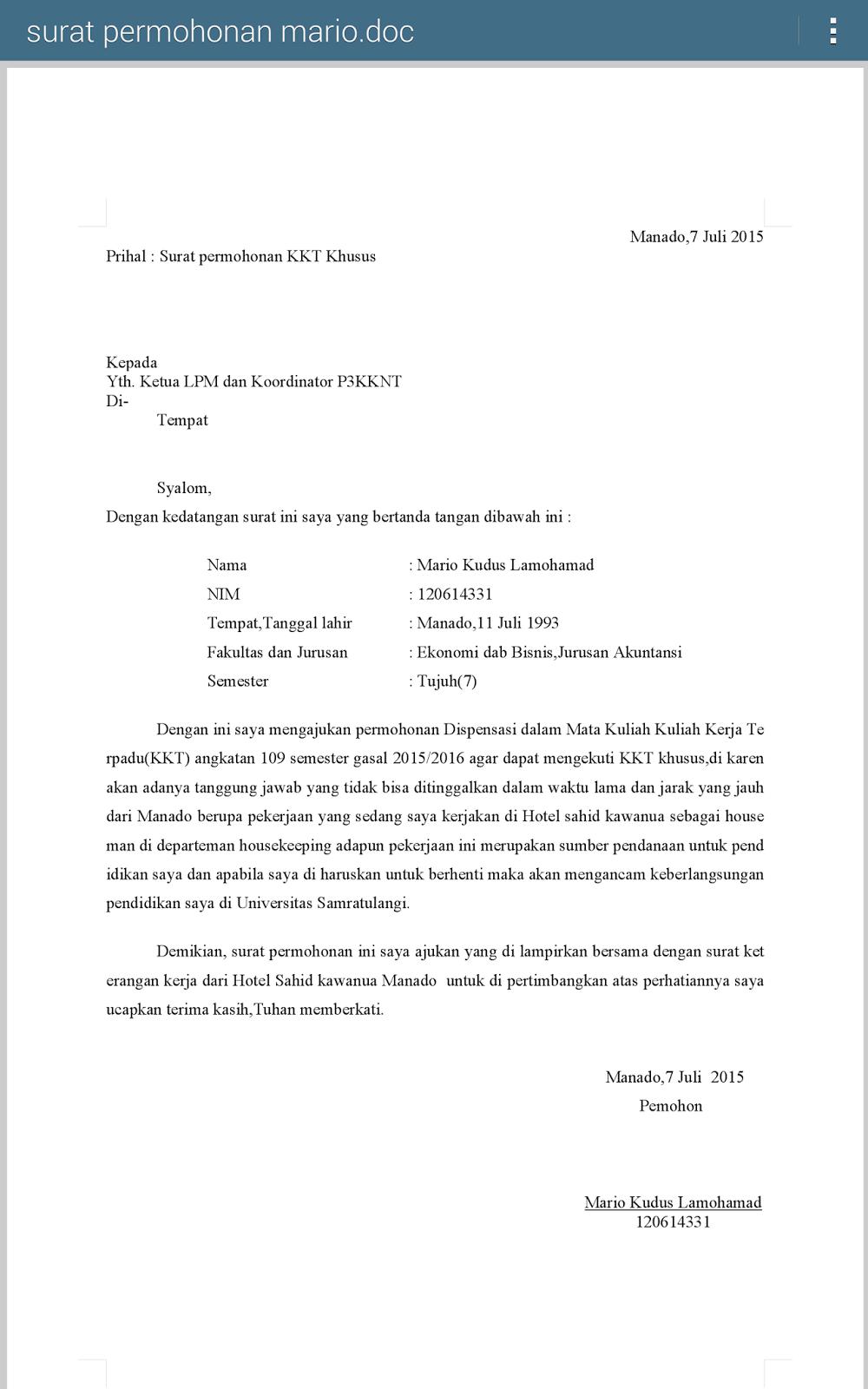 Contoh Surat Dispensasi Pembayaran Spp Kuliah Contoh Surat