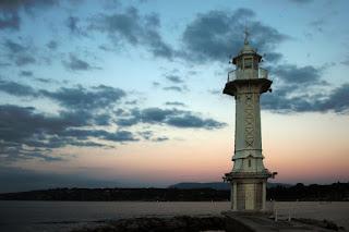 Phare des Pâquis lighthouse - Geneva, Switzerland