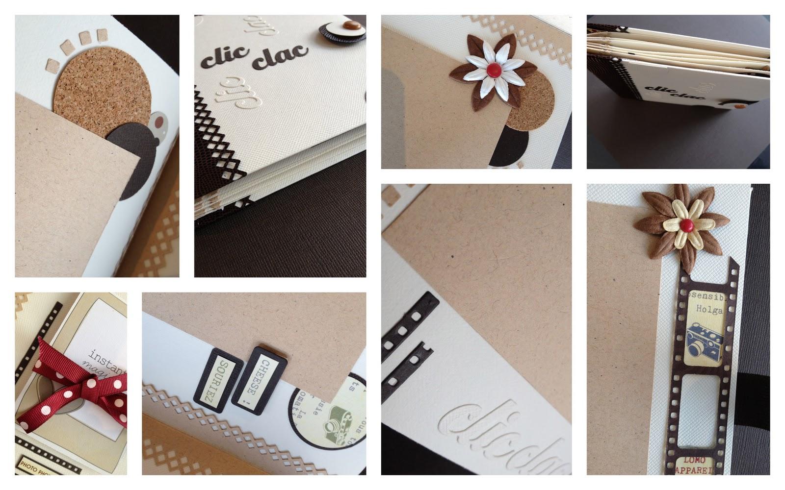 rendez vous scrap atelier mini album clic clac anim par isabelle suchet. Black Bedroom Furniture Sets. Home Design Ideas