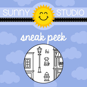 Sunny Studio Stamps: City Streets Stamp Set Sneak Peek