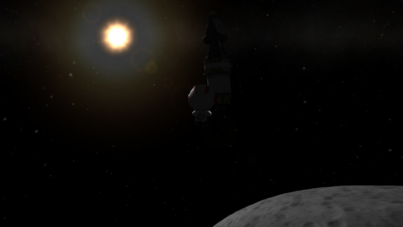 To the Mun! The First Munar Landing Mission by Kerbals | KSP