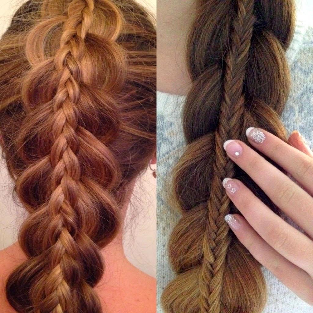 10 bellesalud peinado con trenzas cola de pez apiladas - Peinados paso a paso trenzas ...