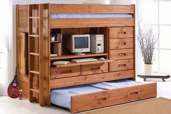 Mẫu giường ngủ thiết kế đẹp mặt tiện dụng mà vẫn tận hưởng được sự thoải mái