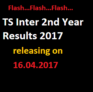 ts inter 2nd year results releasing on 16th April 2017
