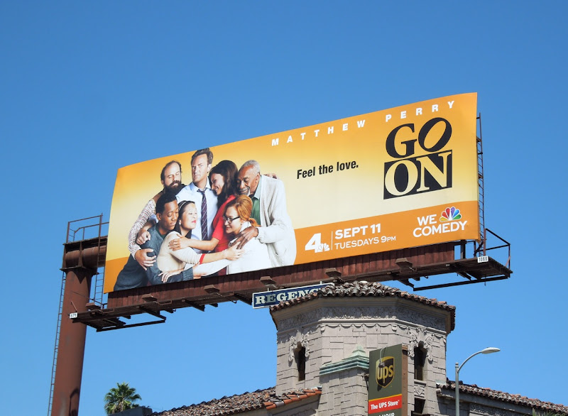 Go On sitcom billboard