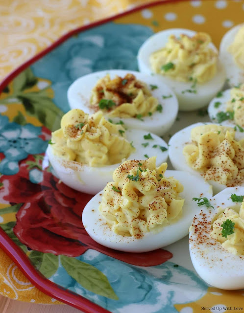 Classic easy Deviled Eggs recipe from Served Up With Love