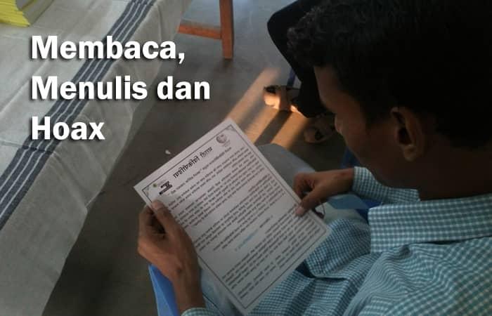 membaca, menyimak hoax