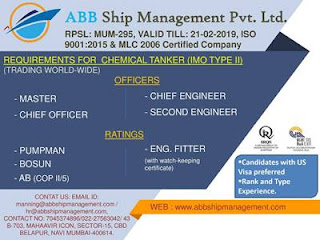 Hiring Crew For Jack Up Barge, AHTS, PSV, Oil Tanker Ship