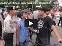 Heboh! Video Pria Ini Tulis 'We Love FPI' dan Save FPI di Kerumunan Massa Aksi Anti Habib Rizieq, Ini Yang Terjadi