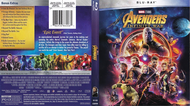 Avengers: Infinity War Bluray