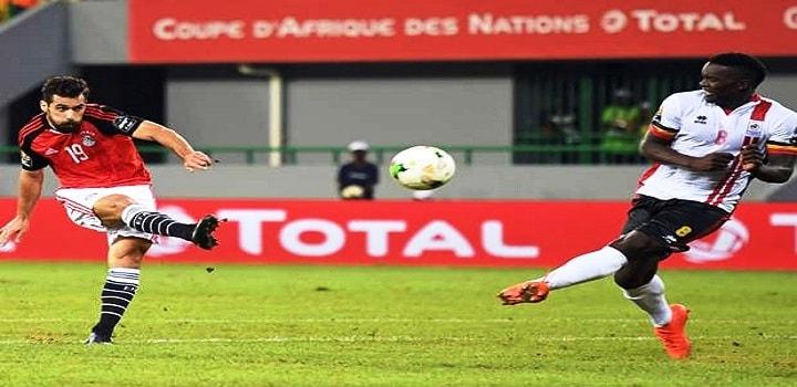 شاهد بالفيديو هدف منتخب مصر فى مرمى اوغندا ببطولة كأس الأمم الأفريقية