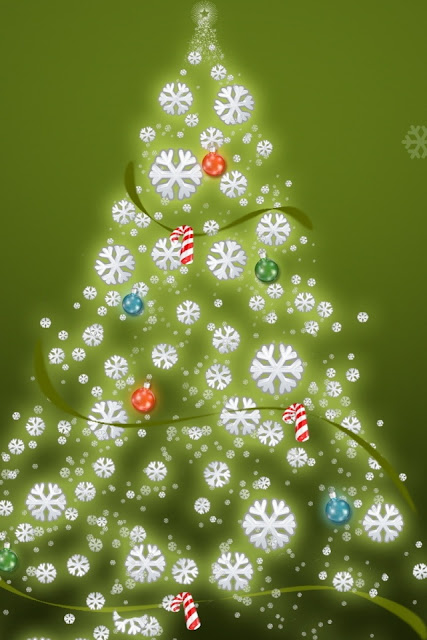 christmas tree hd wallpaper image for iphone 4
