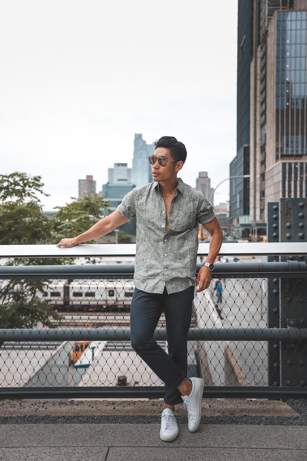 Leo Chan, Levitate Style, wearing Dockers New Signature Khaki