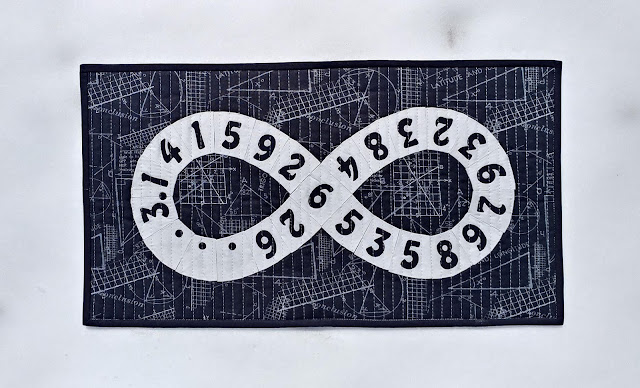 Pi to infinity quilt by Slice of Pi Quilts