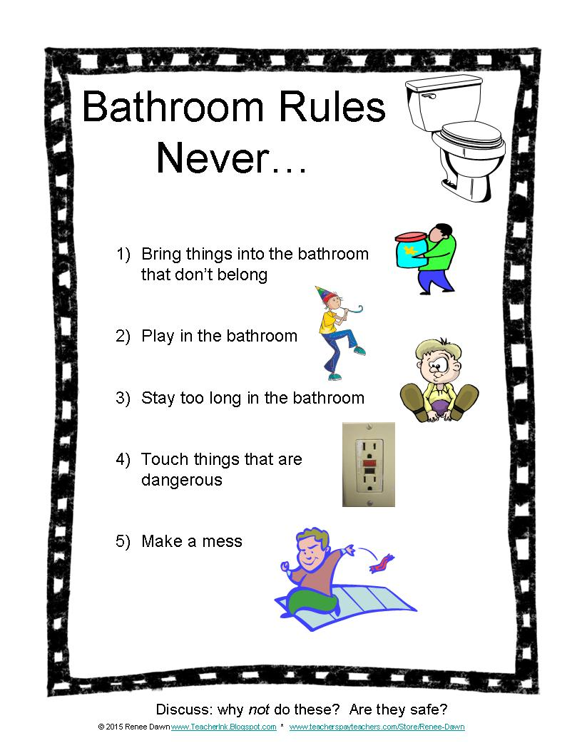 bathroom rules for kids ink bathroom for 16379