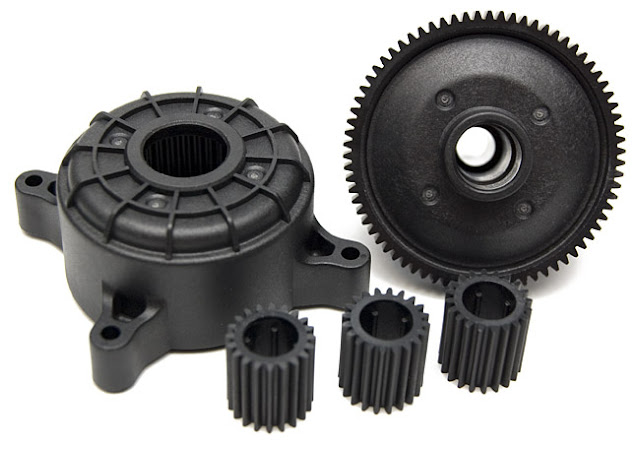 Tamiya CR-01 Toyota Land Cruiser transmission gears