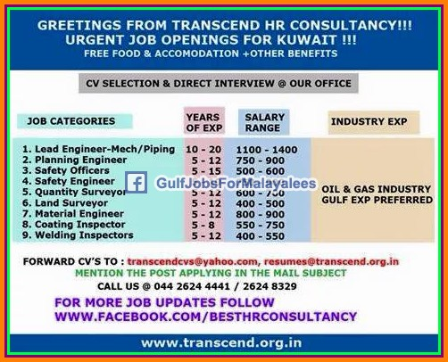 Transcend Hr Consultancy Jobs For Kuwait – Wonderful Image