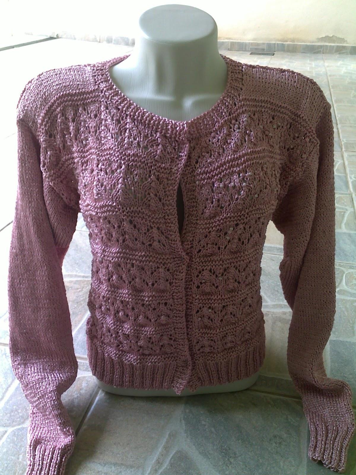 Tricotando carinho  Blusa Neoné Rosé c3e9aed2505