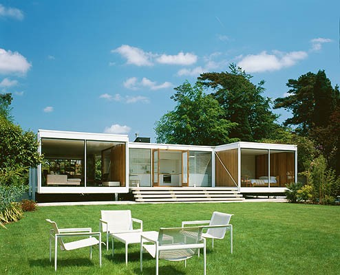 bedroom design blog Hshaped House Is Reinforced With Steel Grids Restoration Series