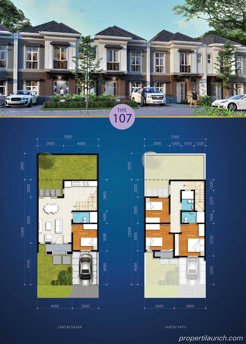 Rumah Visana The Savia BSD Tipe 107