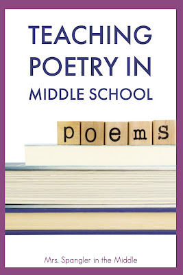 Find out how I teach middle school students to interpret words and phrases using poetry. #teachingpoetry