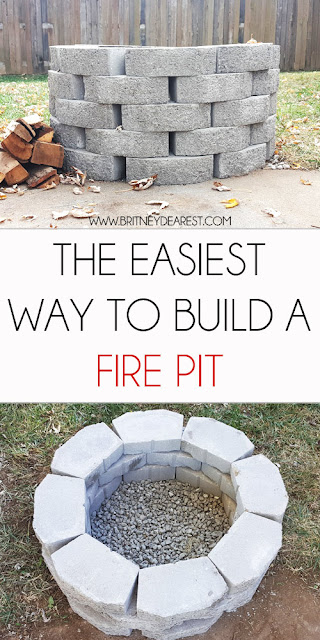 fire pit, how to, build, DIY, do it yourself, fire place, easy, quick, simple, backyard, cheap