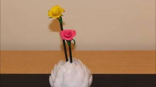 Cara Membuat Vas Bunga dari Sendok Plastik Beserta Gambarnya