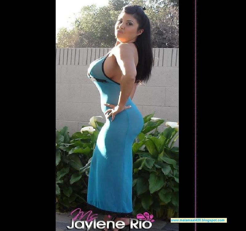 Jaylene Rio 36Ee Boobs In Blue Semi Nude Dress Hot -2638
