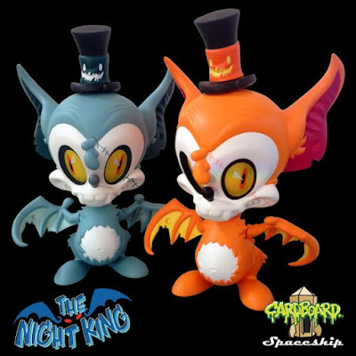 The Night King Candy Corn Edition & Half-Dead Edition Vinyl Figures by Brandt Peters x Cardboard Spaceship