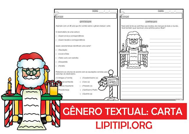 Atividade Natalina com Gênero Textual Carta