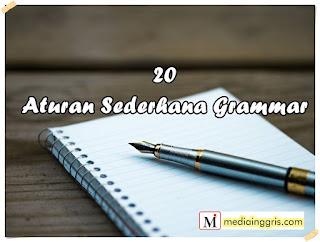Aturan simple grammar bahasa inggris