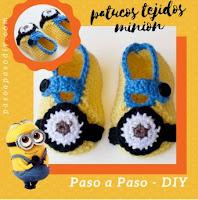Zapatitos-crochet-minions