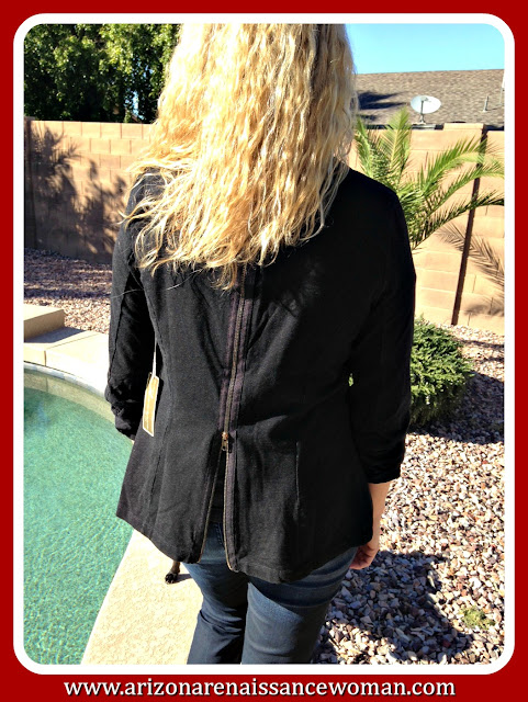 Vintage Havana Zipped Up Blazer - Back - October 2015 Golden Tote Review