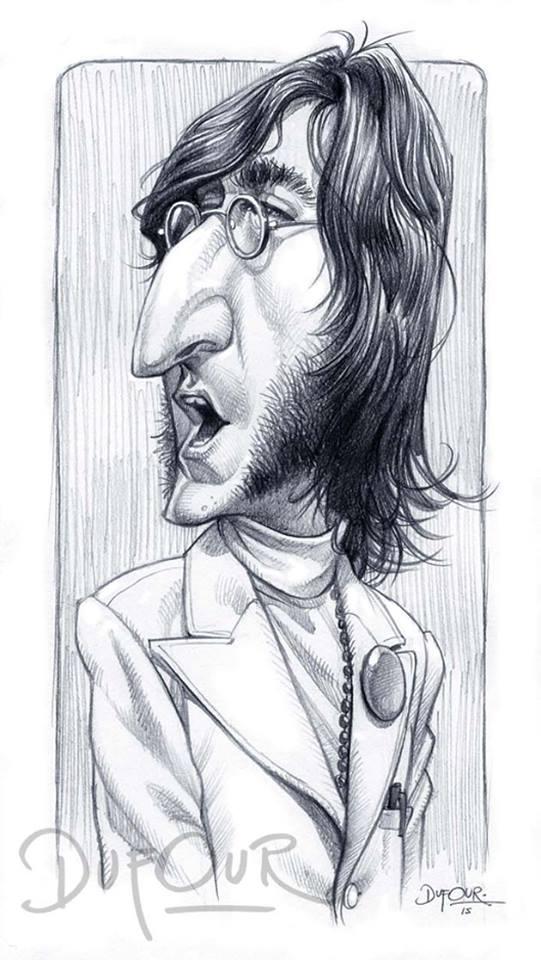 Caricatura de John Lennon 2 por Santiago Dufour