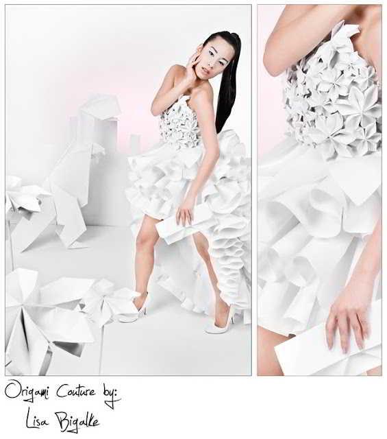 Un vestido hecho de papel - origami