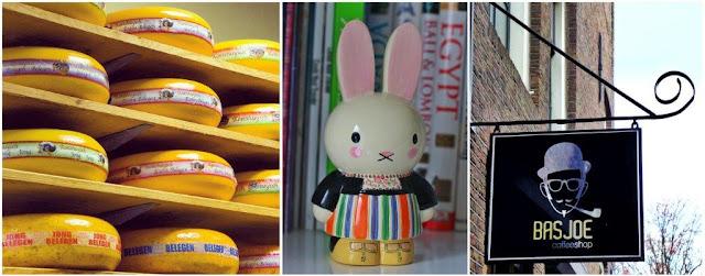 Quesos holandeses en tienda de Gouda – Miffy Nijntje en traje Volendam – Coffeeshop en Amsterdam