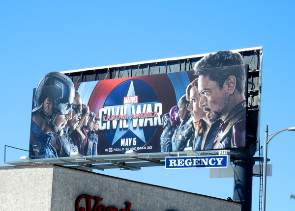 Captain America Civil War extension billboard