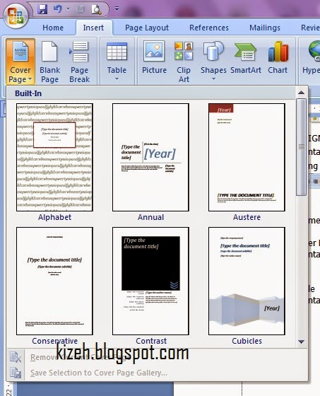 Ms Word 2007 Cover Page Templates Free