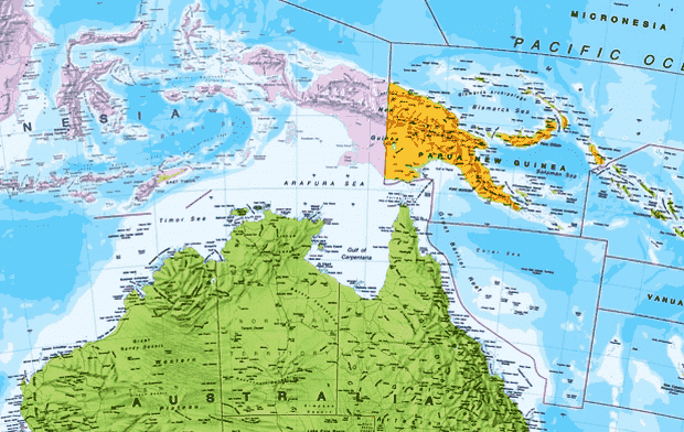 letak astronomis, geografis dan geologis papua nugini