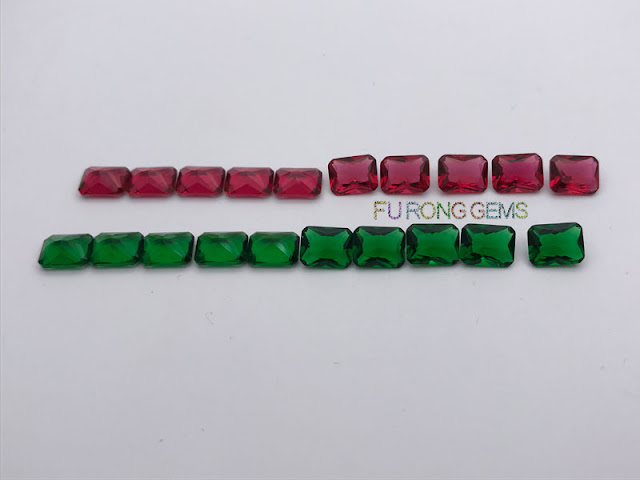 Glass-Emerald-Green-Ruby-Red-color-Gemstones-Wholesale